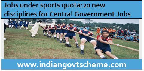 Jobs under sports quota