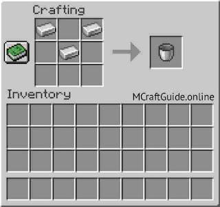 Minecraft Bucket Recipe