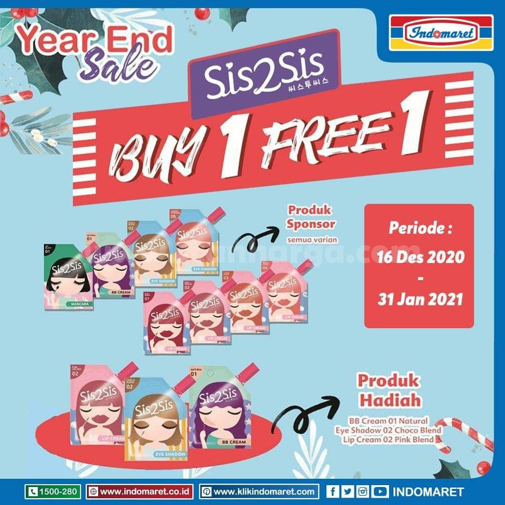 INDOMARET Year End Sale Promo Buy 1 Get 1 Free Sis2Sis