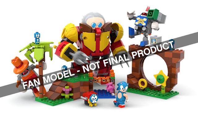 LEGO Ideas Sonic Mania Green Hill Zone set Viv Grannell toastergrl