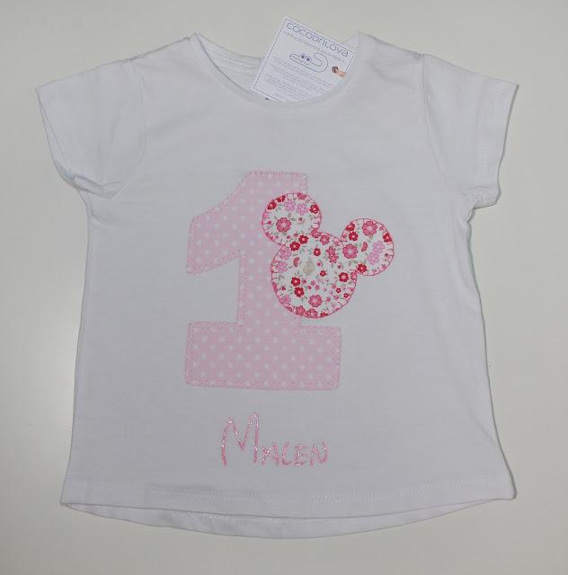 camiseta de cumpleaños minnie mouse 1 año