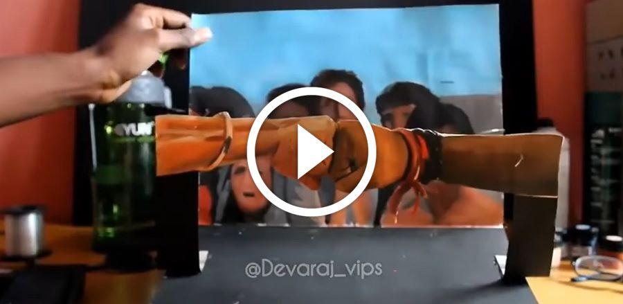 செமையா பண்ணி இருக்கான்! வெறித்தனமான விஜய் ரசிகனா இருப்பான் போல..