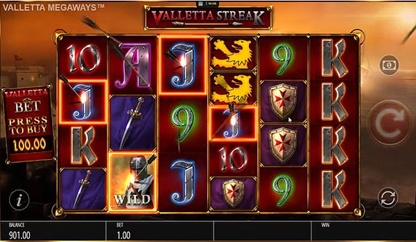 Main Gratis Slot Indonesia - Valletta Megaways (Blueprint Gaming)