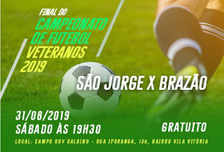 Final do Campeonato de Futebol Veteranos 2019