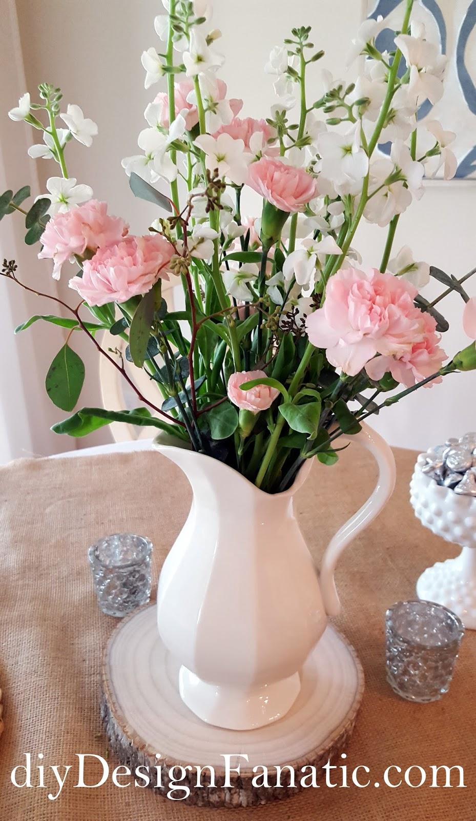 flowers tablescape cottage style farmhouse style diydesignfanaticcom