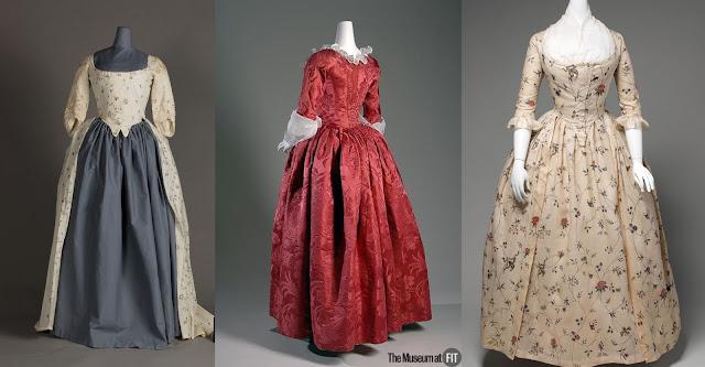 vestido à inglesa século xviii