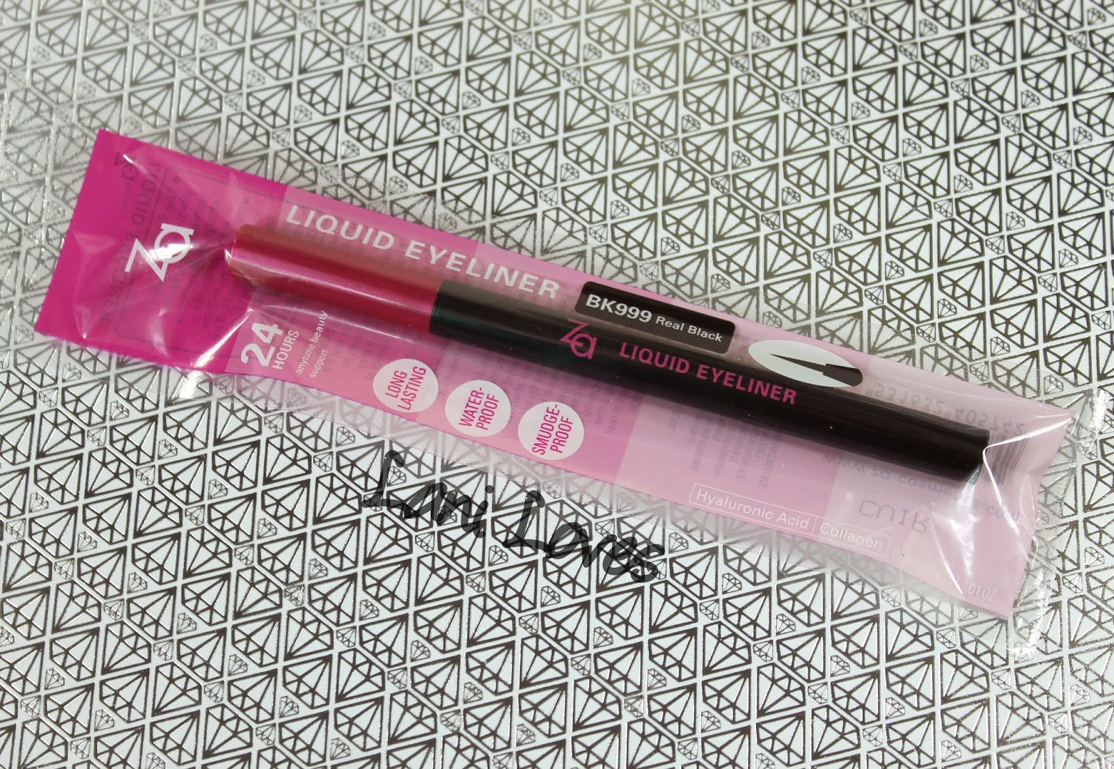ZA Liquid Eyeliner - BK999 Real Black Swatches & Review