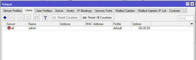 Konfigurasi User Hotspot Mikrotik