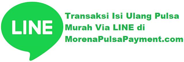 Morena Pulsa, Cara Transaksi Pulsa Via Line