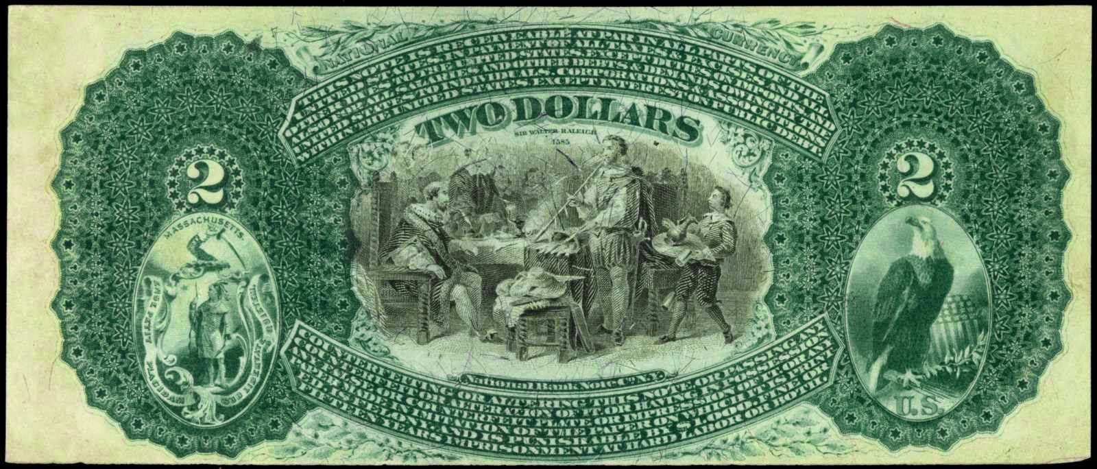 US Currency Two Dollar National Bank Notes 1875