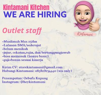 Loker Kupang Kintamani Kitchen Sebagai Outlet Staff