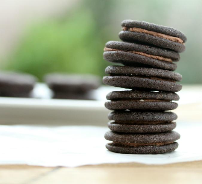 Mini Chocolate Sandwich Cookies
