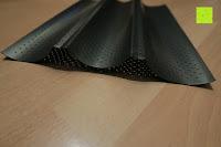 Blech Seite: Amazy Baguette-Backblech – Die antihaftbeschichtete Back-Form zur Herstellung von Baguette und weiteren Gebäcken