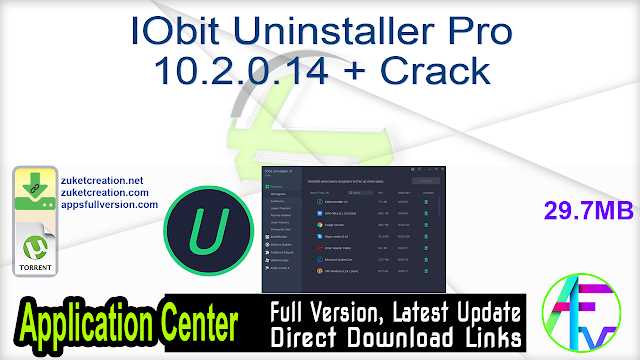 IObit Uninstaller Pro 10.2.0.14 + Crack