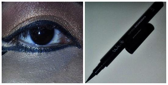 Traço rente ao cílios inferiores com caneta delineadora Vult