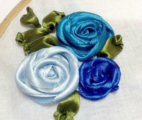 Thêu hoa xoắn bằng ruy băng - Hình 1