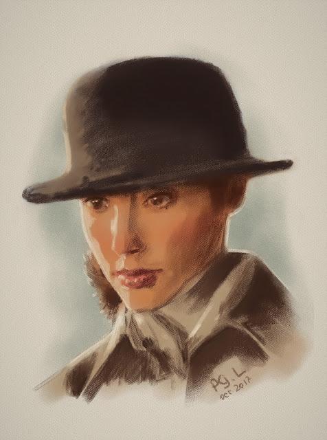 Портрет Дианы (Галь Гадот) в Лондоне