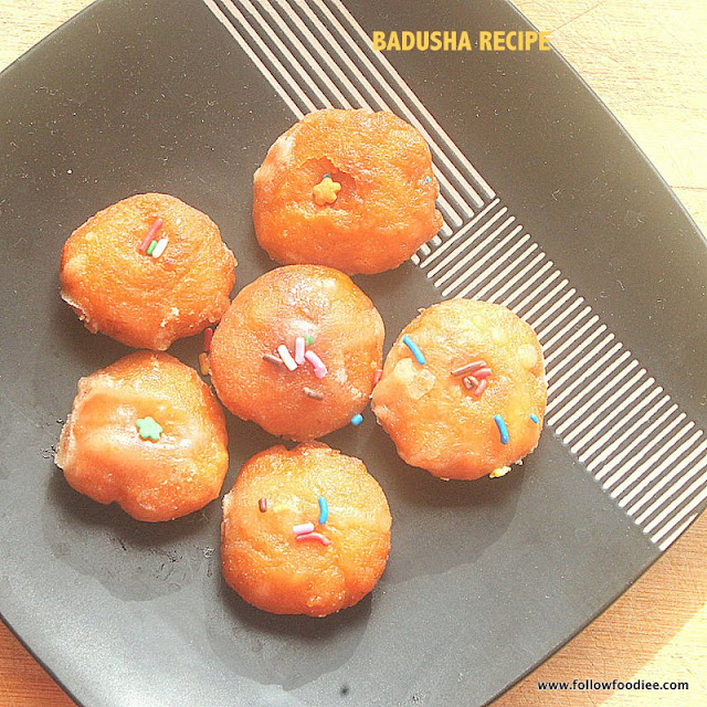 BADUSHA RECIPE | HOW TO MAKE BADUSHA RECIPE - STEP BY STEP PHOTOS