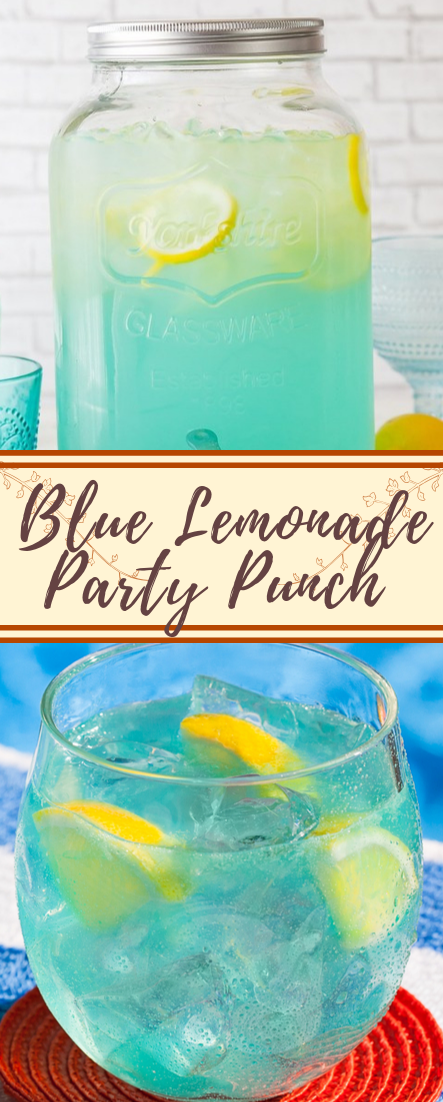 Blue Lemonade Party Punch #healthydrink #easyrecipe #cocktail #smoothie