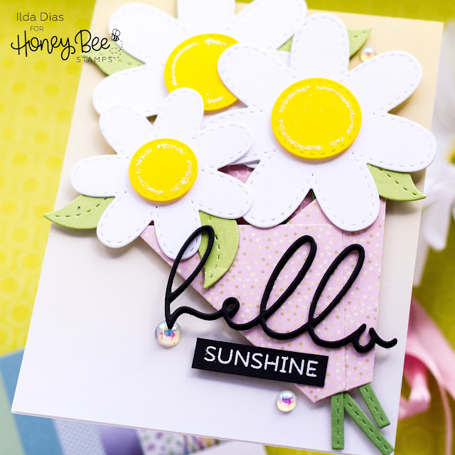 Spring Bouquet,  Friendship Cards, Honey Bee Stamps, Daisies, Card Making, Stamping, Die Cutting, handmade card, ilovedoingallthingscrafty, Stamps, how to,