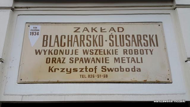 Warszawa Warsaw szyld