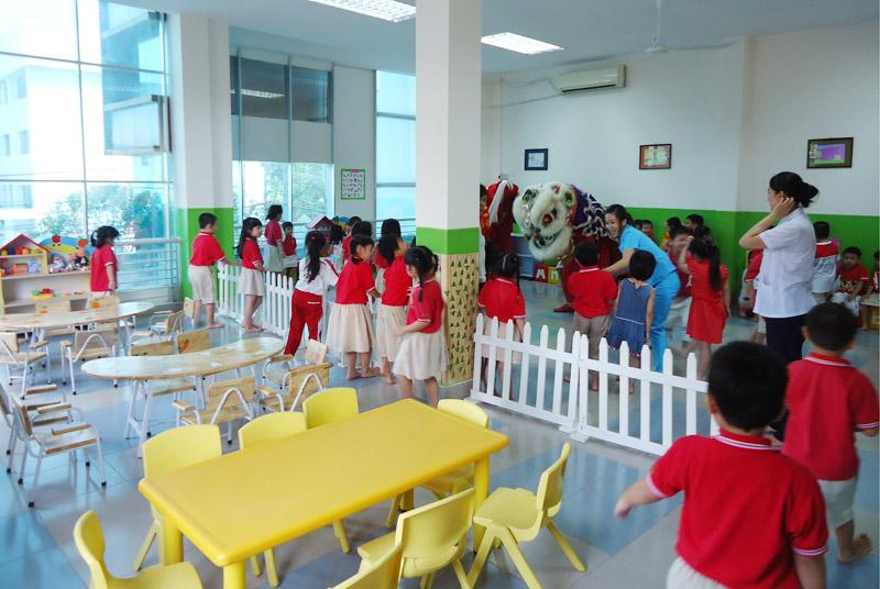 Trường mầm non rộng 2.500 m2 trong chung cư số 2 Kim Giang