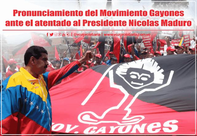 Pronunciamiento del Movimiento Gayones ante el atentado al Presidente Nicolas Maduro