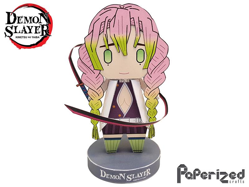 Demon Slayer Mitsuri Kanroji Papercraft Paperized Crafts Gyomei himejima is the stone pillar. demon slayer mitsuri kanroji