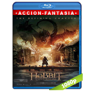 El Hobbit The Battle Of The Five Armies (2014) BRRip Full 1080p Audio Trial Latino-Castellano-Ingles 5.1