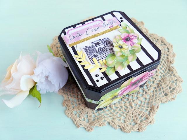 Scrapbooking: Mini album accordion in scatola riciclata - Versione 2 - Process Video