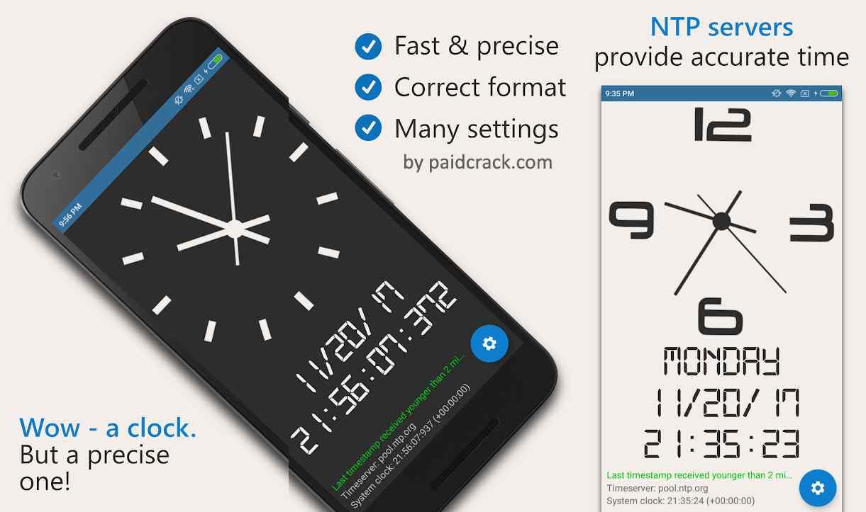 AtomicClock - NTP Time (with widget) Pro Mod Apk 1.8.0