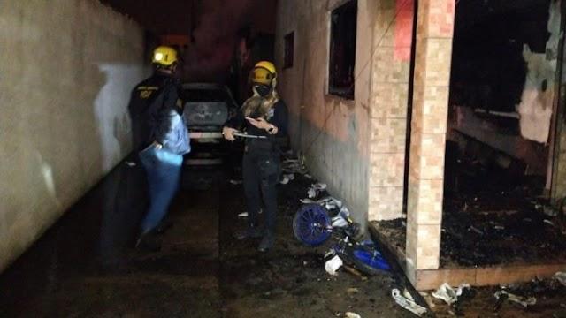 SC: Pai mata filha de 13 anos, esfaqueia filho e incendeia casa