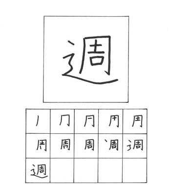 kanji minggu