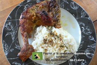 Vie quotidienne de FLaure: Poulet à la moutarde comme un tandoori