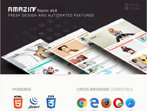 Amazin is responsive multipurpose Blogger template. Fabulous unique design with automated features gives you the power to simply and quickly using this theme.
