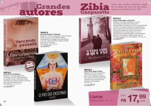 Livros Zibia Gaspareto, mais barato, com desconto, Avon