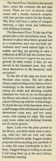 Text from the article about the Law Library, concluded.