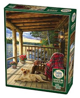 Cabin Porch box. A Cobble Hill puzzle by Greg Giordano.