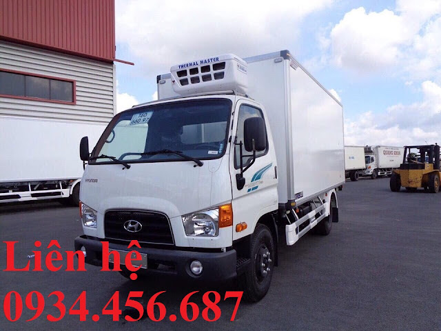 Hyundai 110sl thùng đông lạnh 6 tấn