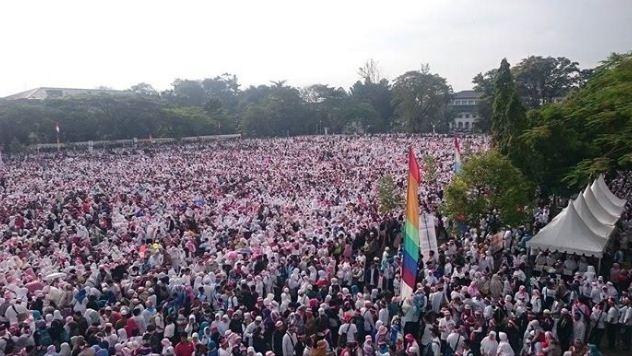Peserta Aksi 1212 di Bandung Capai 30 Ribu Orang