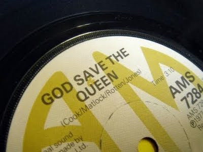 god save the queen A&M recorda 1977 original detail