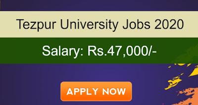 Tezpur University Sarkari Naukri In Assam 2020: Recruitment for Junior Research Fellow/ Senior Research Fellow/ Research Associate Vacancies   Sarkari Jobs Adda