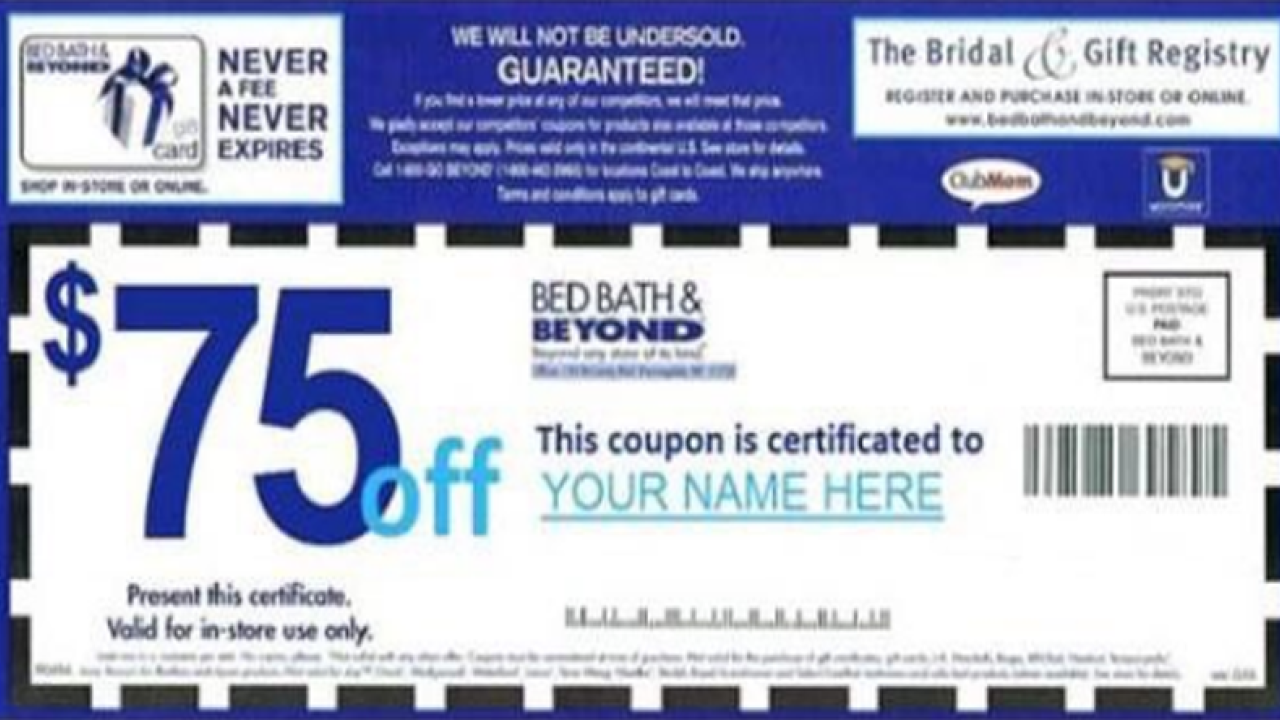 Bed Bath And Beyond Printable Coupon 20 Off Entire Purchase November 2020 Today 20 Off In Store