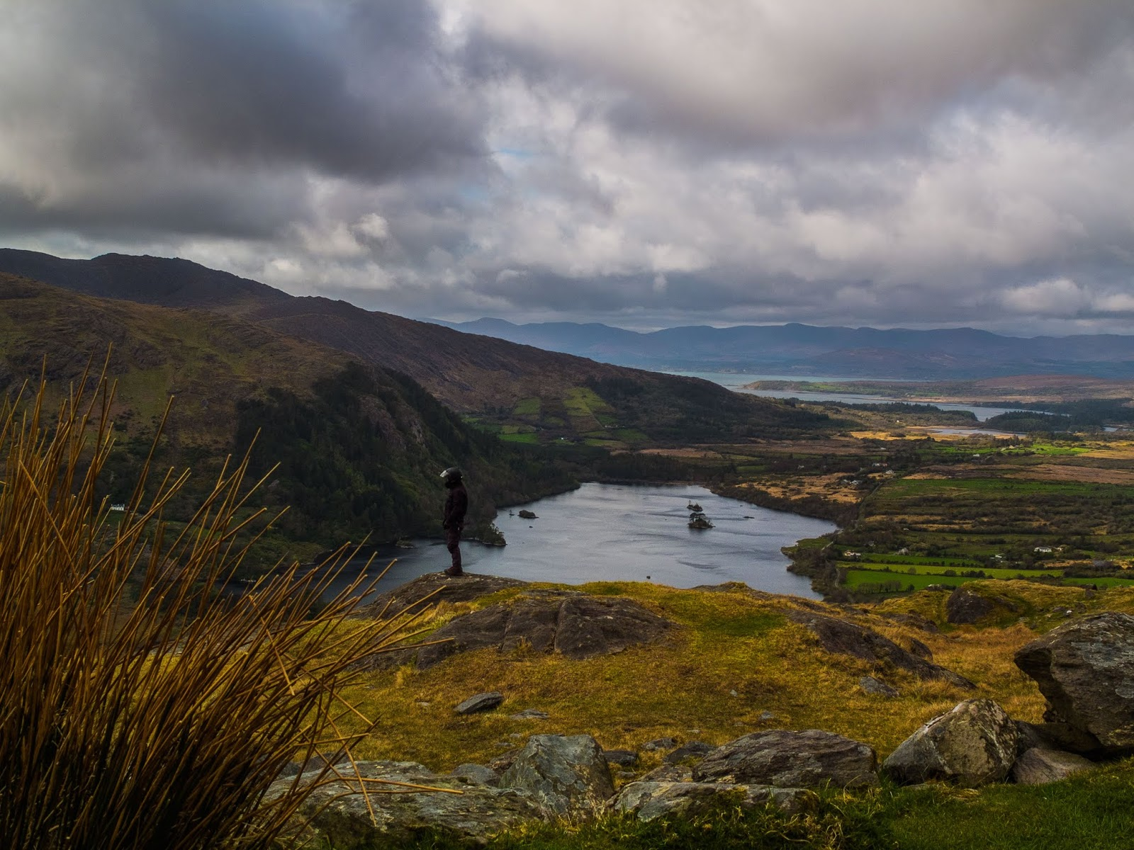 A freshwater lake in the southwest of Ireland, located on the Beara Peninsula in County Kerry.