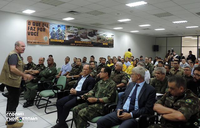 Coronel Chrisostomo acompanha Ministro da Defesa em visita à Porto Velho