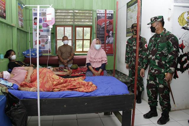 Pos Kesehatan Satgas Pamtas RI-PNG Manfaatkan Barak Untuk Rawat Inap Sementara