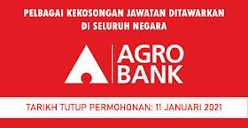 Pelbagai Jawatan Kosong Ditawarkan Di Agro Bank ~ Kekosongan Di Seluruh Negara