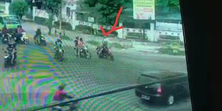 Aksi Begal Siang Bolong di Jalan Gaperta Terekam CCTV, Korban Ditikam 4 Liang