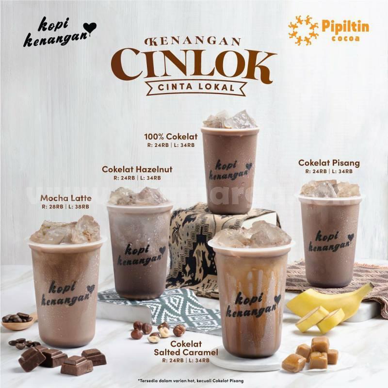 Promo Kopi Kenangan PAKET CINLOK CINTA LOKAL X PIPILTIN COCOA!