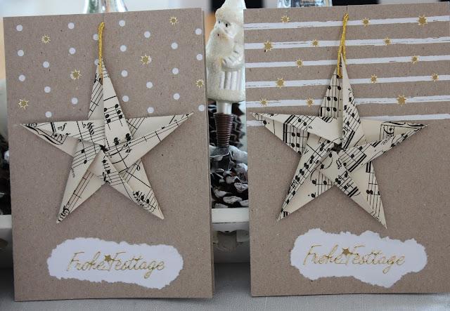 Weihnachtskarten Origami.Landidylle Weihnachtskarten Mit Origami Sternen
